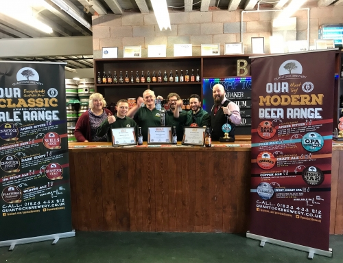 Quantock Brewery wins two Gold's at SIBA National Independent Beer Awards 2018