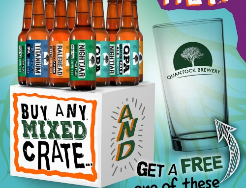 Buy any mixed case and get a free pint glass