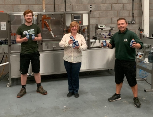 Quantock Brewery unveils canning line